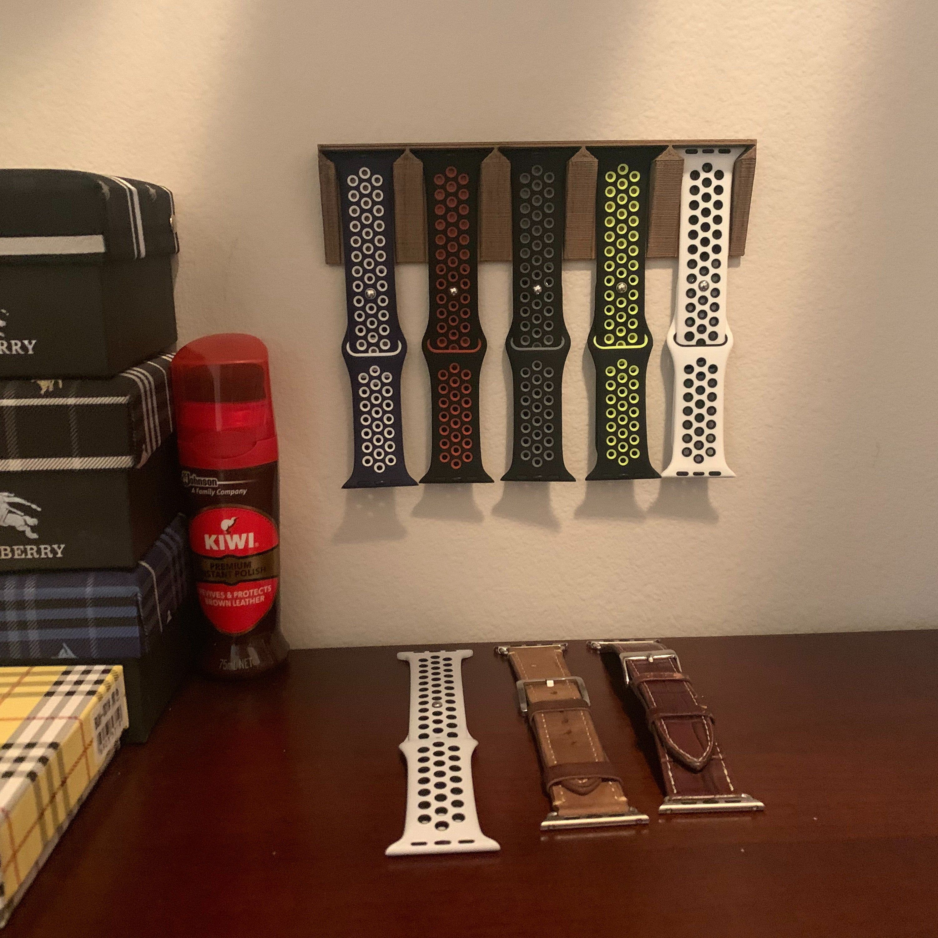Apple watch band display holder 3d print plastic or wood