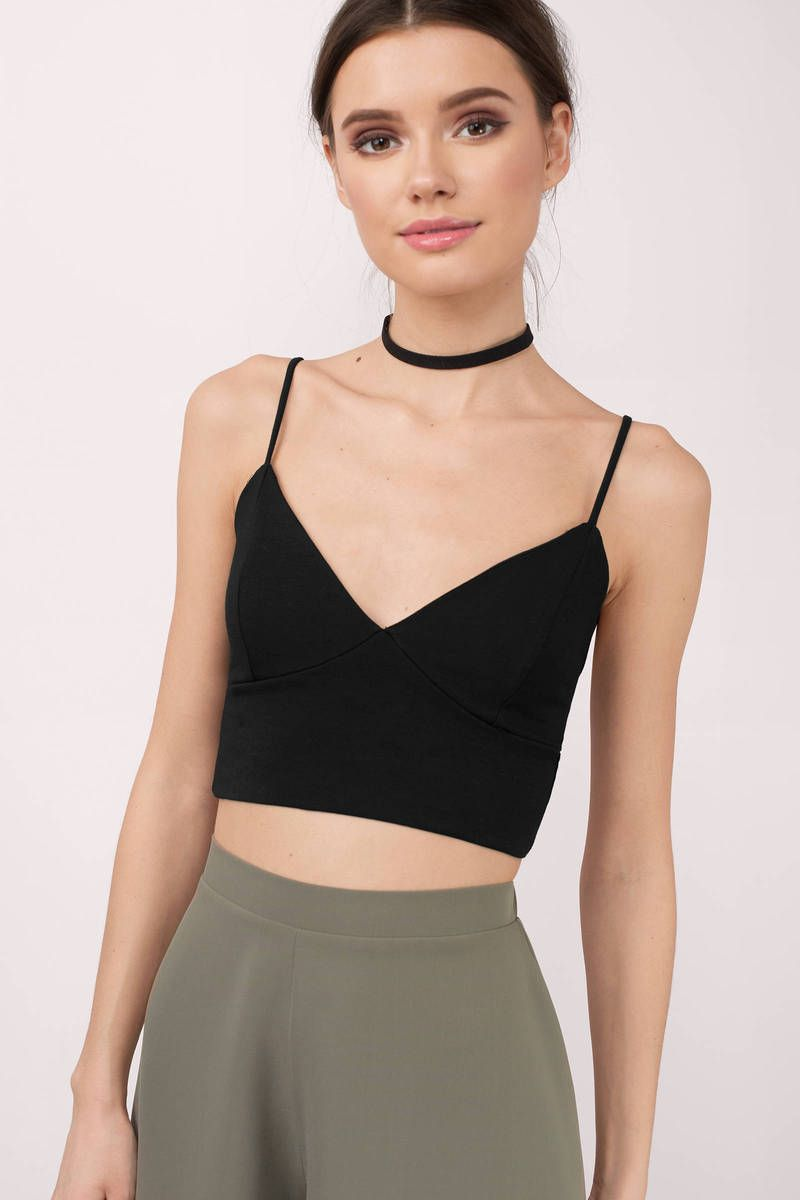 2081eca7758d3 Maria Black Cami Crop Top