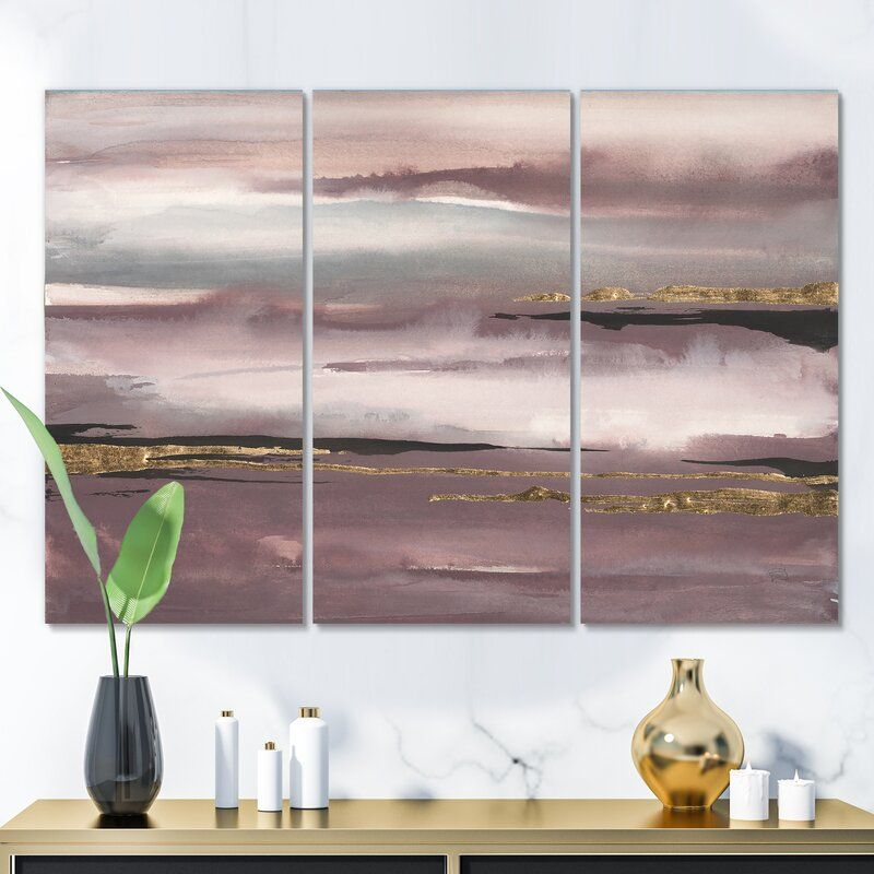 Shabby Elegance Purple Glam Storm Iv Painting Multi Piece Image On Wrapped Canvas Shabby Chic Canvas Art Beautiful Wall Art Canvas Artwork