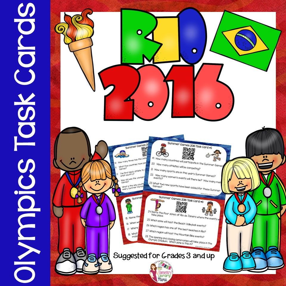 Everyone Is Getting Excited For The 2016 Summer Olympic Games These Task Cards Are A Fun And E Preschool Olympics Summer School Themes Olympic Theme Classroom