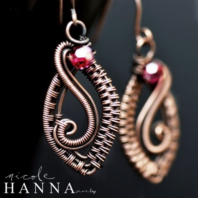 PDF Tutorials - Nicole Hanna Jewelry | Wire weave earrings | Pinterest