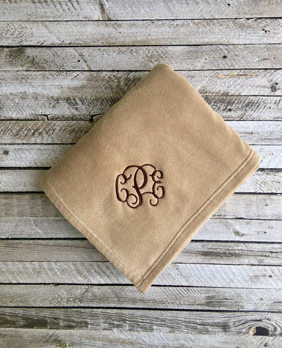 a30f1c2516a Monogrammed Blanket Monogram Blankets by PoshBoutiqueGa on Etsy