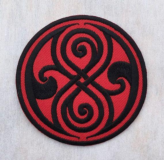 Doctor Who Symbol Seal Of Rassilon Crest Badge Emblem Embroidered