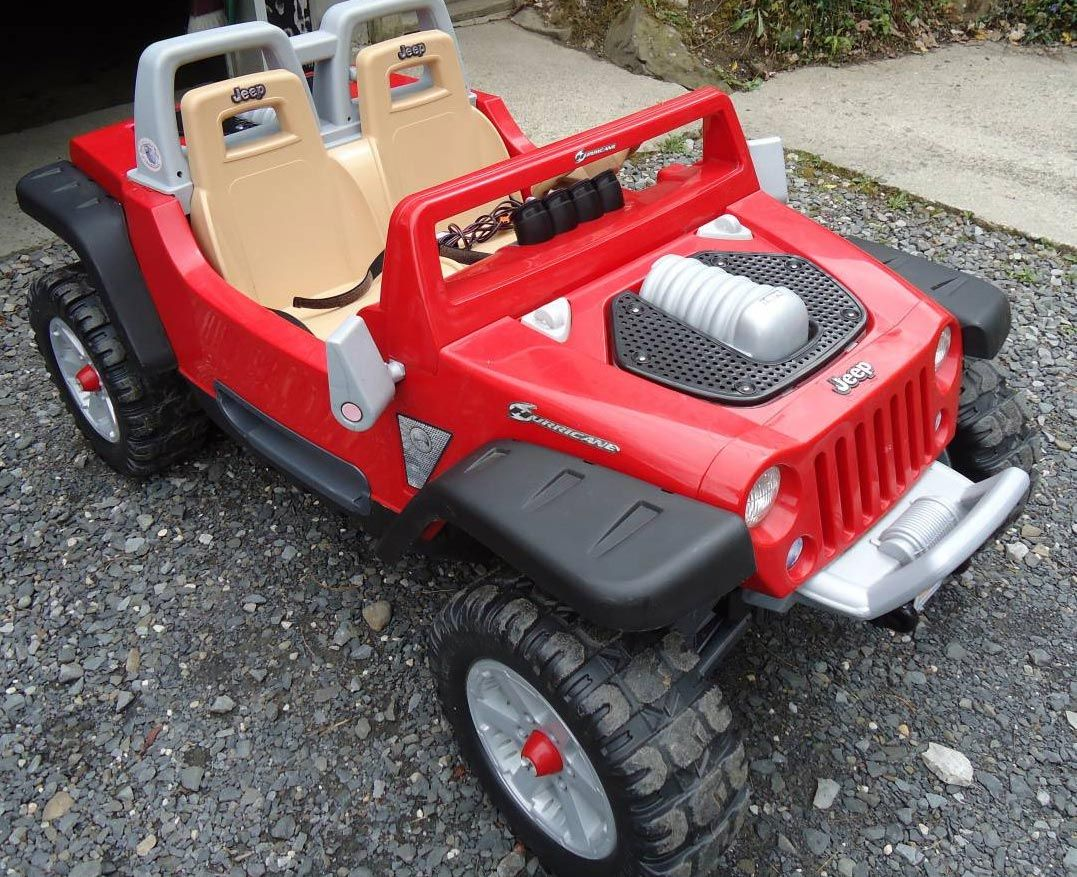 Red Jeep Hurricane Power Wheels Ride On Toy Kids Red Jeep Ride
