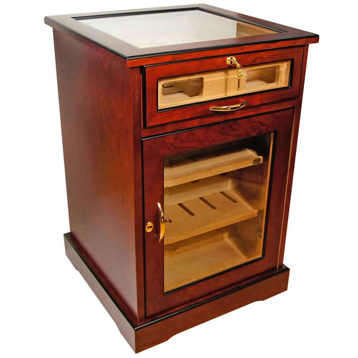 End Table Cabinet Cigar Humidor