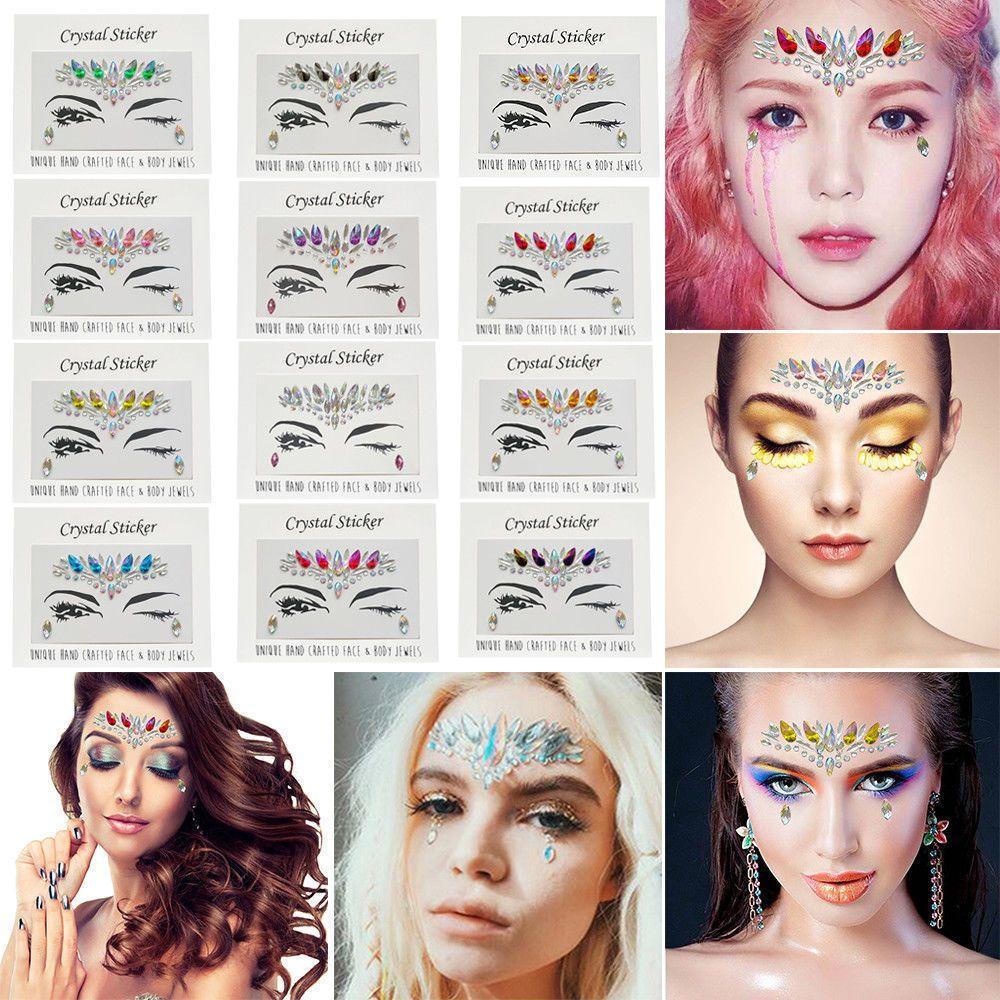 4f65fc8a7 $0.99 - Temporary Tattoo Face Gems Jewels Rhinestone Festival Body Glitter  Stickers Rock #ebay #Fashion