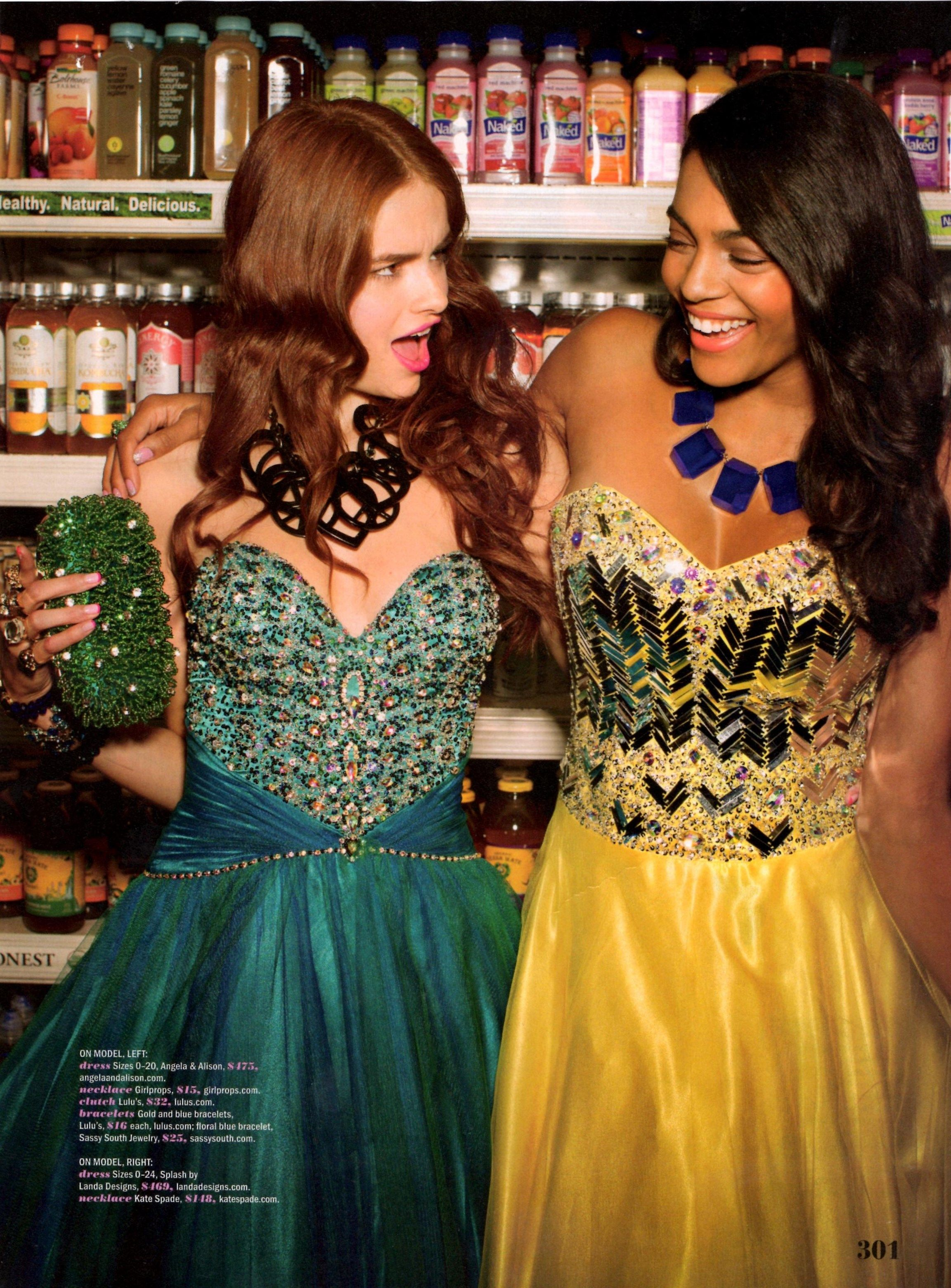 Spring issue of Seventeen magazine Prom edition. Hair by
