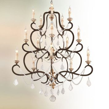 FREE SHIPPING! Shop Wayfair for Troy Lighting Bordeaux 15 Light Crystal Chandelier - Great Deals on all Kitchen
