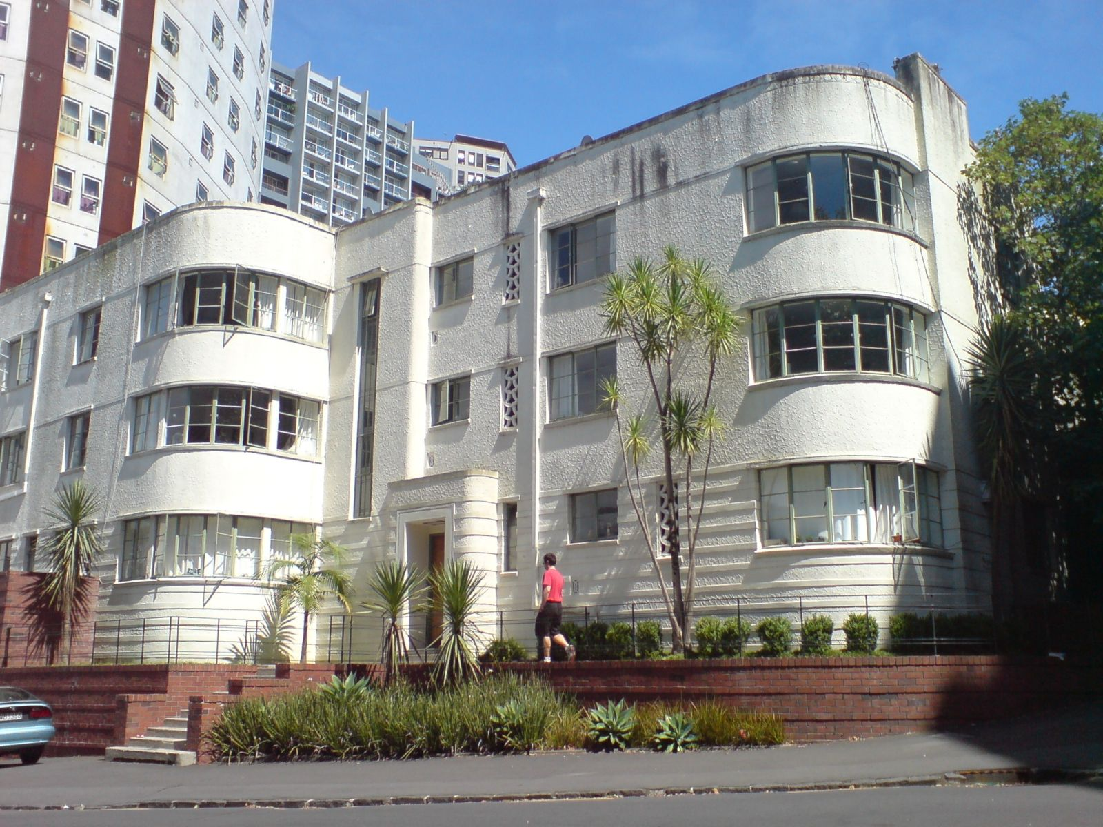 Art deco style architecture - The Cintra Flats Art Deco Apartment Building Auckland New Zealand