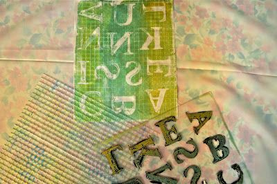 Gelli Printing.........Found Objects
