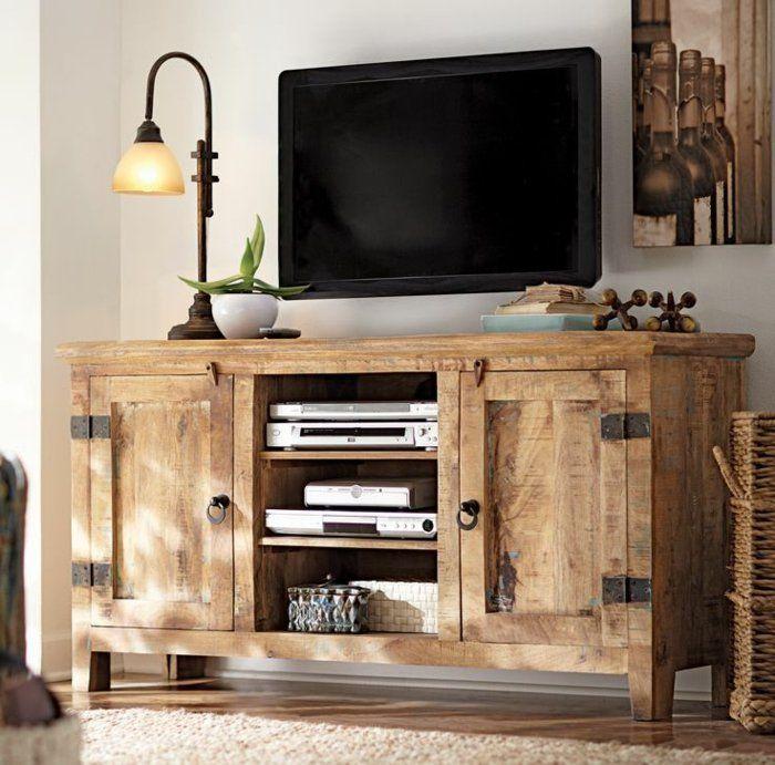 Le meuble télé en 50 photos, des idées inspirantes! | Solid wood tv ...