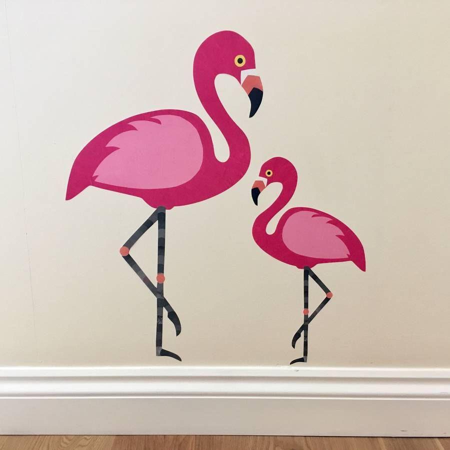 Flamingo Wall Sticker Flamingo Wall Art Flamingo Decal Flamingo Artwork [ 900 x 900 Pixel ]