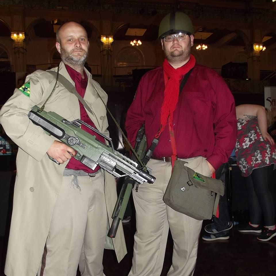 So mine and my brother's first cosplay. Browncoats kids. Browncoats.