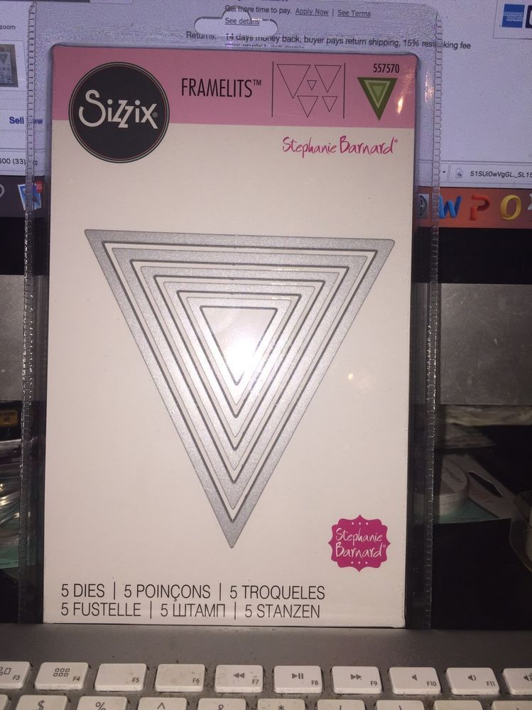 pennant plain banners sizzix framelits 5 triangle thin metal die set