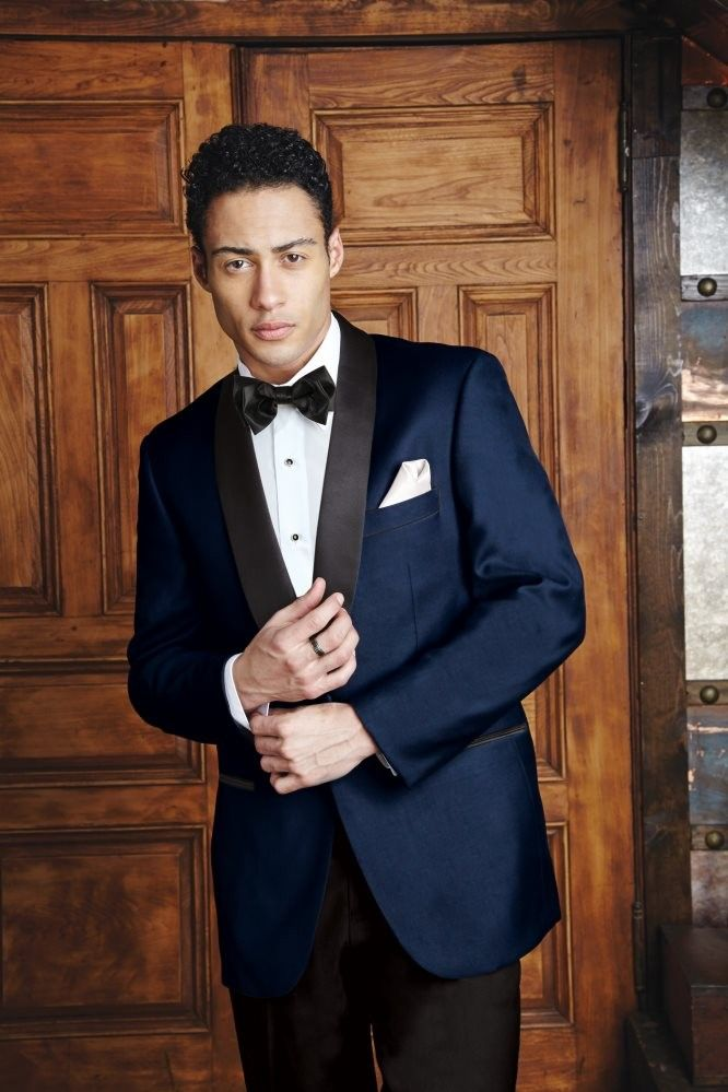 Henley Navy Velvet Shawl Dinner Jacket By Cardi