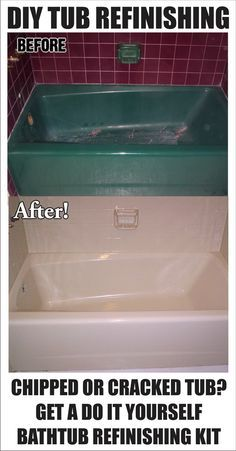 How To Restore And Refinish A Tub Bathtub Refinishing Pinterest - Can you refinish a fiberglass tub
