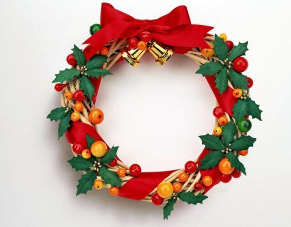 Decoração de Natal com guirlanda     l