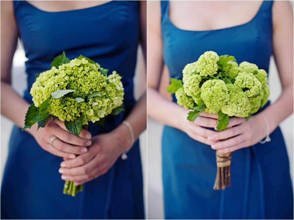Cape Cod Style Lime Green and Blue Nautical Wedding