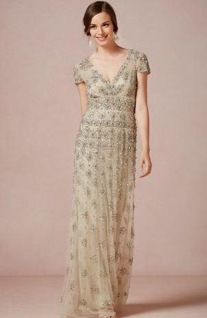 Jewel-encrusted wedding dress #weddingdress #jewels