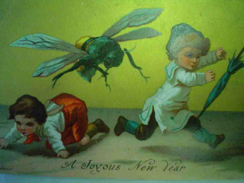 nothing says happy new year like a huge victorian bee that terrifies children