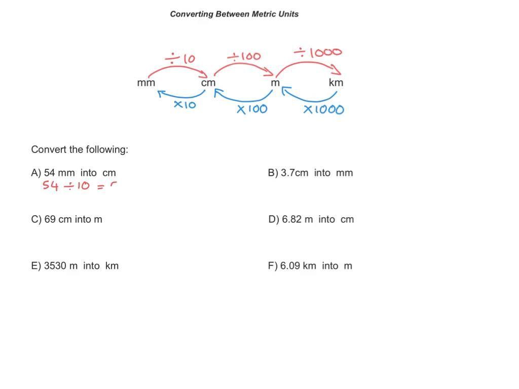 Converting Metric Units Of Length Ks2 Maths