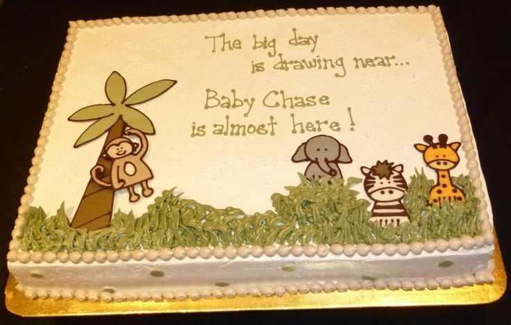 Baby Shower Cakes Baby Shower Cake Sayings For Jungle Theme