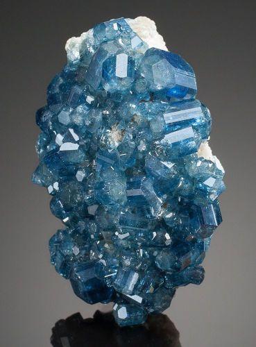 Minerals:Small Cabinet, APATITE. Alto Da Cabeca Mine, Parelhas, Rio Grande do Norte,Brazil. ...