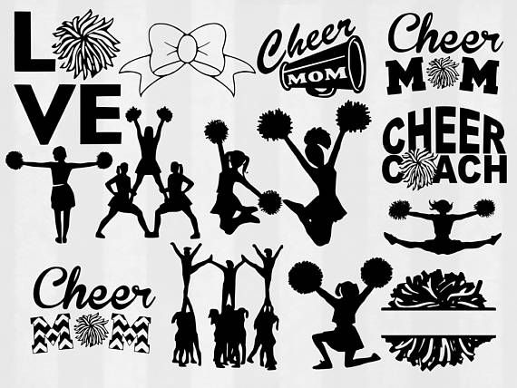 Pin By Amy Manning Bosler On Cricut Explore Cheer Clipart Cheer Mom Cheer