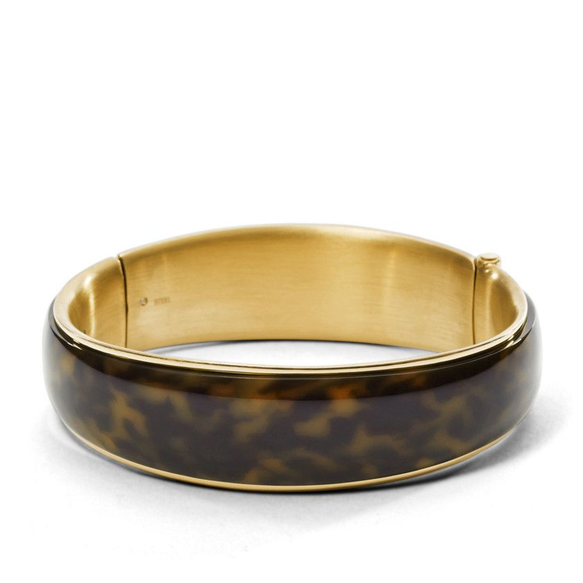 8d4010ba641 JF01101 - Wide Tort Bangle | style inspiration | Fossil bracelet ...