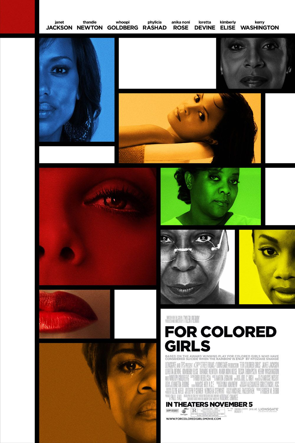 For Colored Girls Movieposter (2010) For colored girls