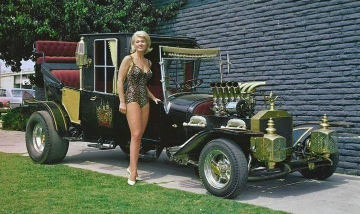 Pat Priest (Marilyn Munster) with the Munster Koach ...