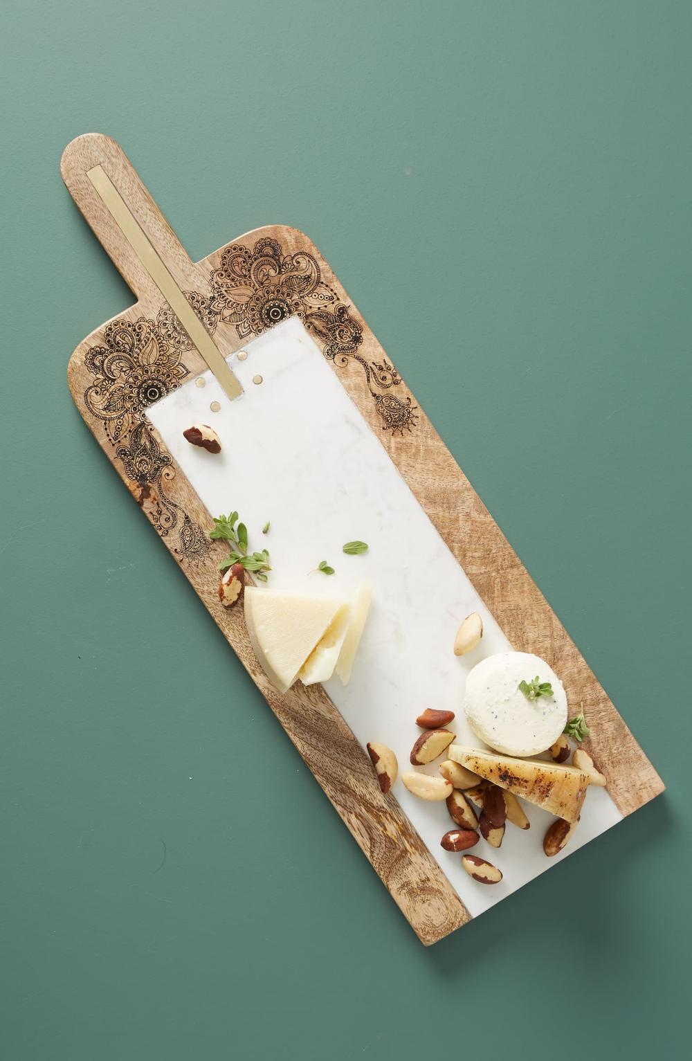 Anthropologie Khadija Cheese Board Marble Cheese Board Cheese