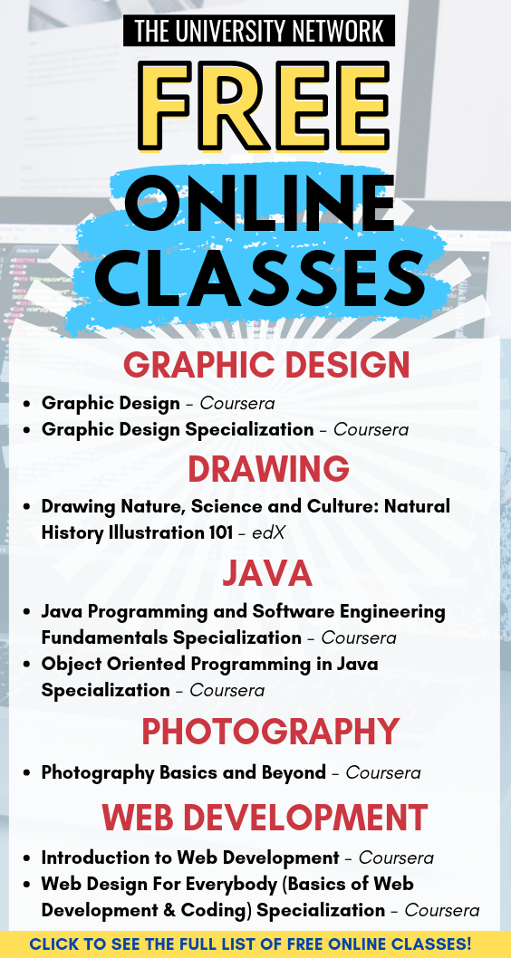 Learn New Skills For Free Online Classes Free Online Classes