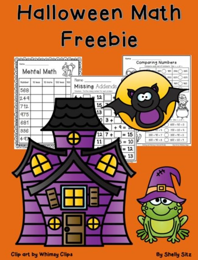 Halloween Worksheets For 2nd Grade Math Halloween Math Worksheets Halloween Math Activities Halloween Math