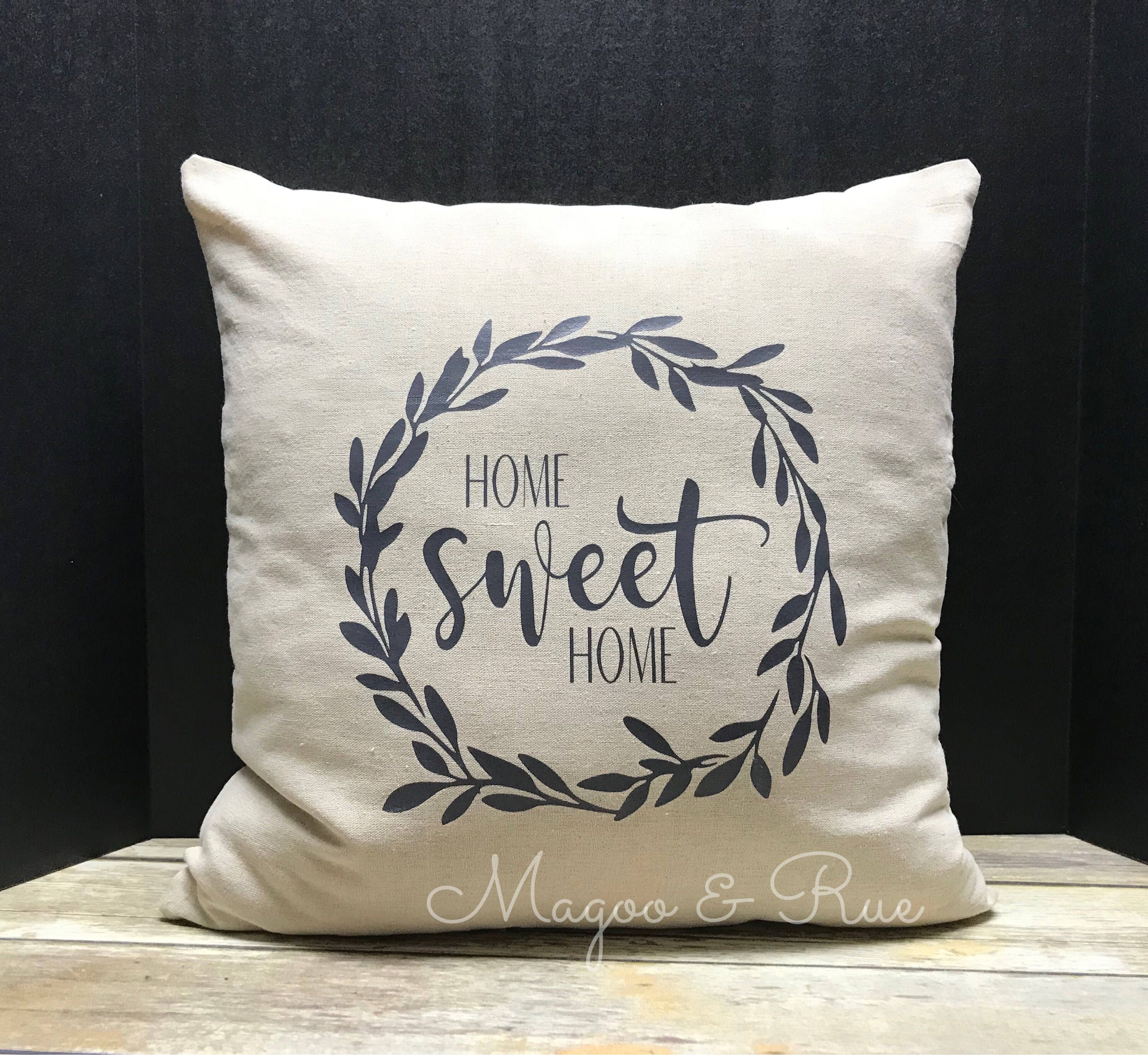Home Sweet Home Farmhouse Decorative Pillow Cover Etsy