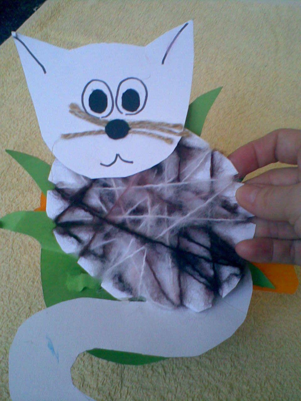 Kağıt Tabaktan Kedi Yapımı