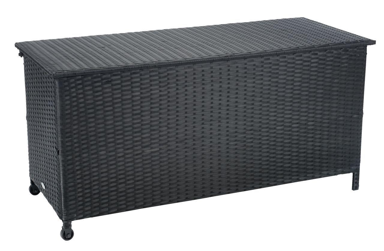 Cushion Box Yderup W133xh64xd56 Black Wooden Garden Furniture