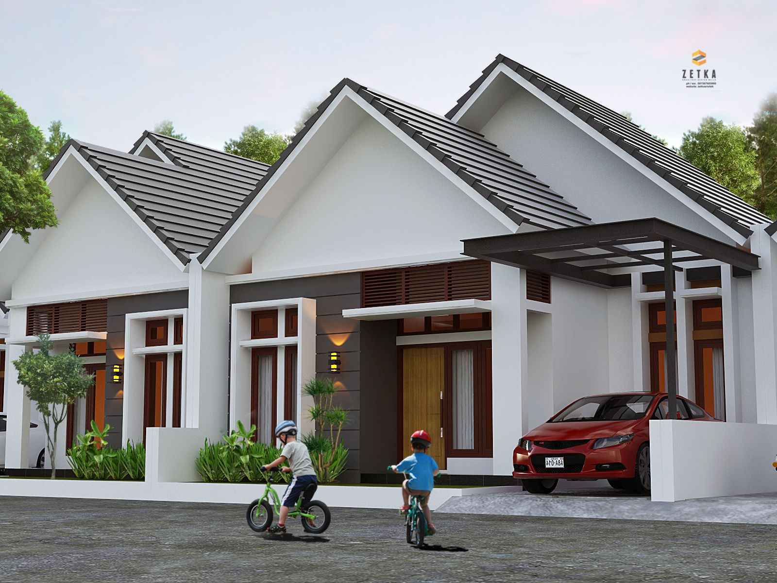 Pin oleh zetka arsitek di perumahan palangkaraya Rumah