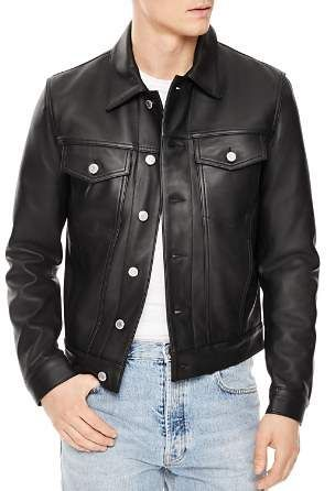 32ac03a02d8 Sandro Trucker Leather Jacket | Phoenix Fly leathers in 2019 ...