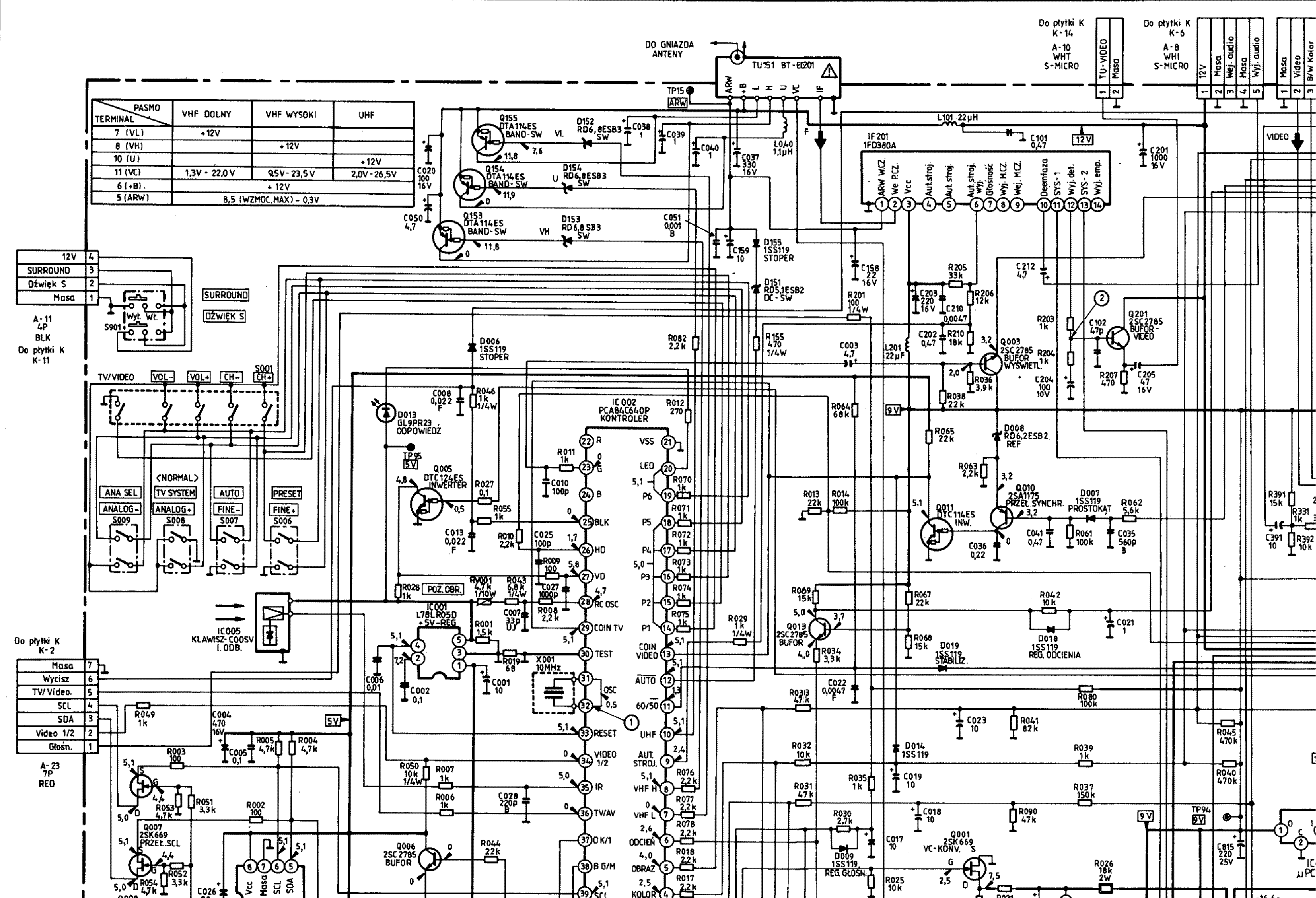 sansui tv circuit diagram free download circuit diagram images [ 3383 x 2310 Pixel ]
