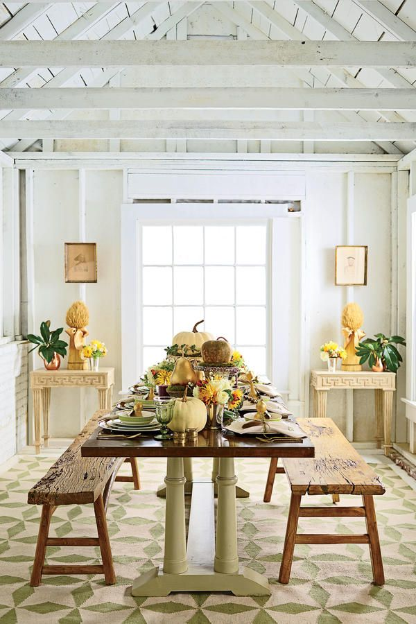 Bountiful Thanksgiving Harvest - The Ultimate Southern Thanksgiving - Southernliving. What happenswhen you pair one of the South's most creative stylists with one of its rising culinary stars? Thanksgiving gold. SL Style Director Heather Chadduck Hillegas created the season's most inspired table, mixing vintage finds with traditional patterns, alongside Athens, Georgia, cookbook author Gena Knox, who crafted a modern menu full of classic dishes with smart new twists. Follow their leads…
