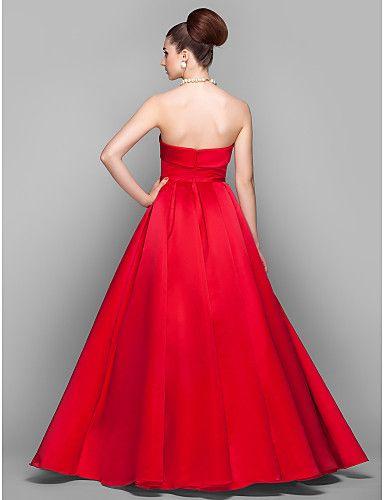 vestido de baile sem alças assoalho-comprimento vestido de noite de cetim inspirado por arizona muse – BRL R$ 273,57