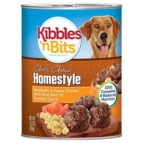 Kibbles n' Bits Meatball Pasta Dinner with Beef Canned Wet Dog Food (Pack of 12), 13.2 oz. * Check this awesome product by going to the link at the image.