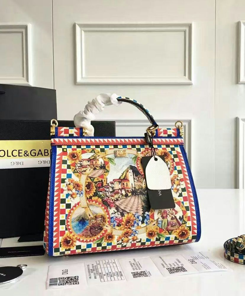 Dolce   Gabbana Miss Sicily Bag With Royal Household Printed. Cheap Dolce    Gabbana  Review With High Quality. c0c9761ab40