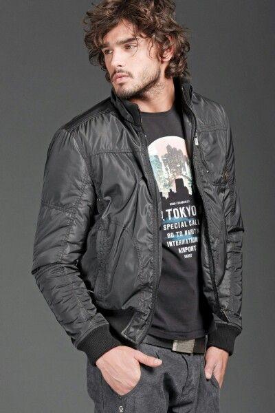 Brazilian top model Marlon Teixeira posing for Gaudi's Fall Winter lookbook imagery.