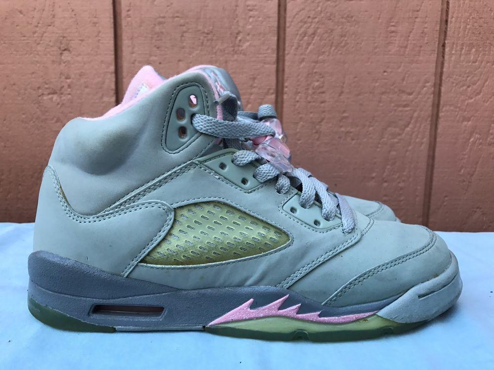 7e9979268db4dd eBay  Sponsored EUC RARE Nike Air Jordan 5 V Retro GS Silver Shy Pink  Stealth US 5Y 134092-061