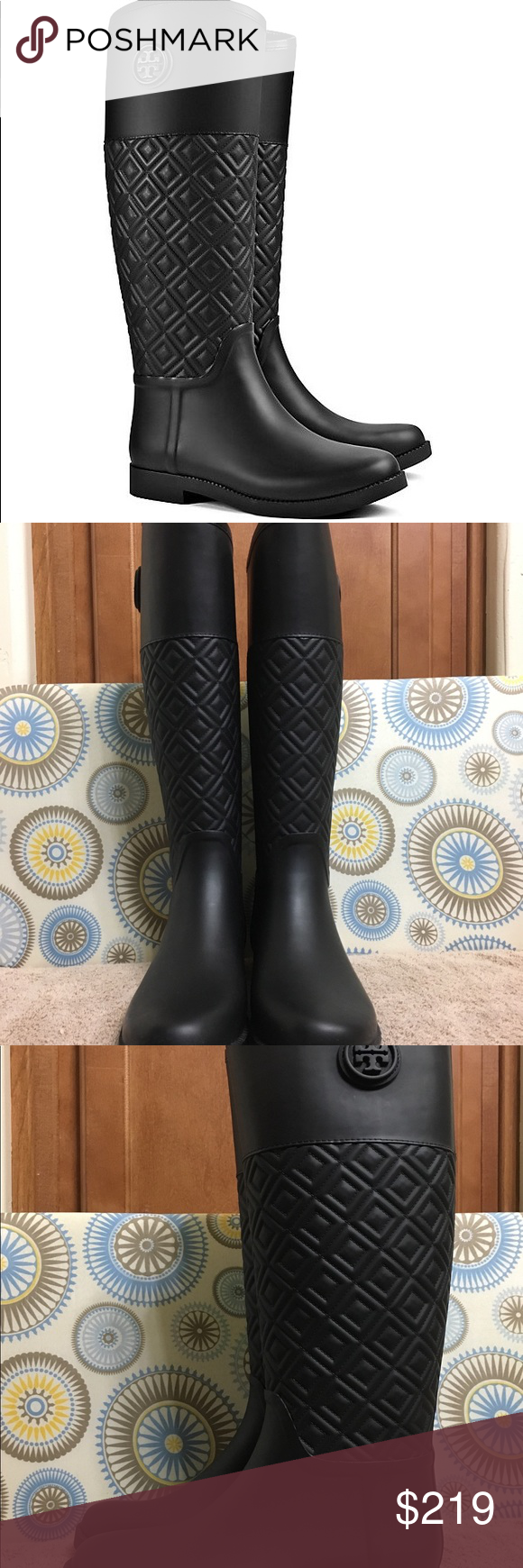 6bdbcf35fed316 Tory Burch Marion Quilted Rain Boots These are brand new Tory Burch Marion  Quilted Rain Boots