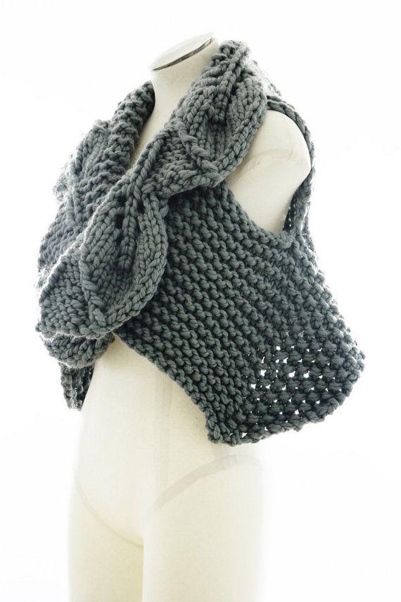 PDF Knitting Pattern - Foliage - Chunky knit vest pattern ...