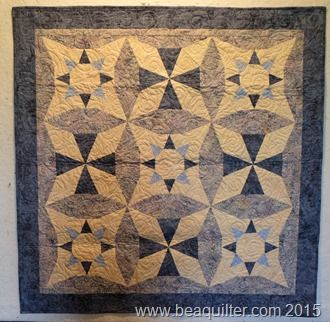 Quilt is Quilter's Newsletter Stars at Night
