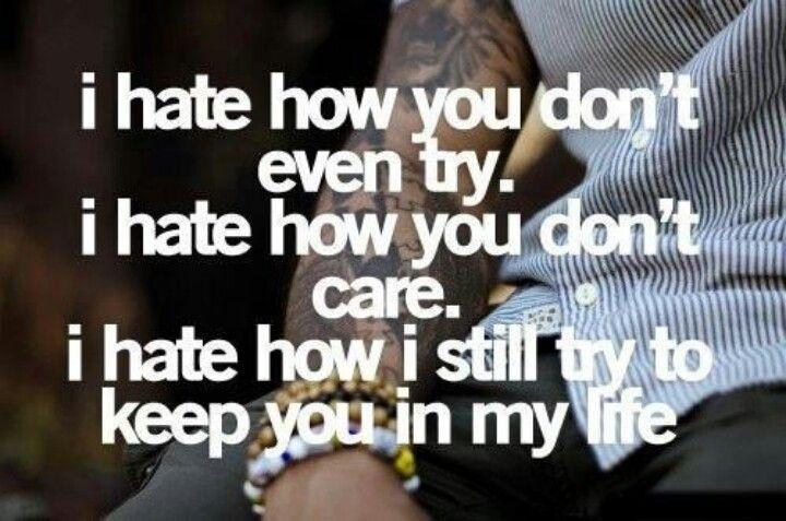 I hate...